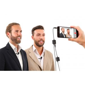 Ik multimedia IRigMicLavDUAL Microphone Noir