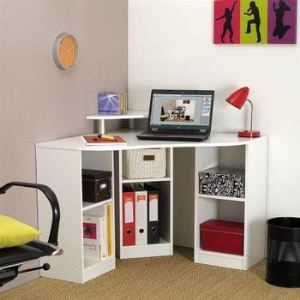 bureau d 39 angle d cor bobby avec 6 tag res comparer avec. Black Bedroom Furniture Sets. Home Design Ideas