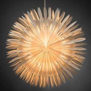 Konstsmide Etoile lumineuse électrique en papier à suspendre blanche (60 cm)