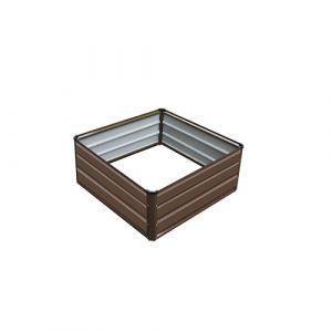 Gardiun Nature Grove Cuber VI - Jardinière métallique, de 100 x 100 x 38 cm, Couleur Marron
