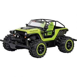 2656aa255a92f5 Carrera Voiture radiocommandée Go Jeep Trailcat 4 roues motrices avec pack  batterie