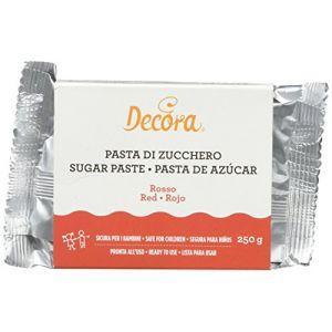 Decora Pâte à Sucre Rouge 250 g