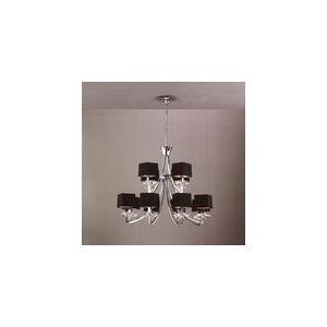 Mantra Suspension Akira 12 ampoules en chrome 40 W