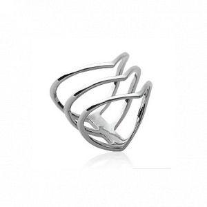 Collection Zanzybar Bague femme argent 3 anneaux fleches, modèle GARANCE Taille - 50