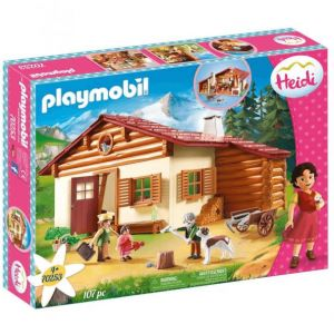 Playmobil 70253 - Heidi - Heidi avec grand-père et chalet - 2020