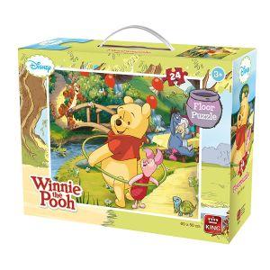 King International Puzzle géant de sol Winnie l'Ourson (24 pièces)