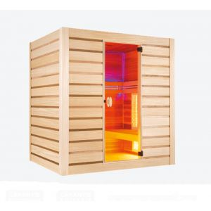 Holl's Sauna vapeur & infrarouge Hybride Combi 4 places