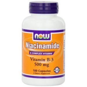 Now Foods Niacinamide, 500 Mg, 100 Capsules
