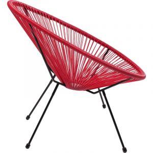 Kare Design Fauteuil Design Rouge ACAPULCO