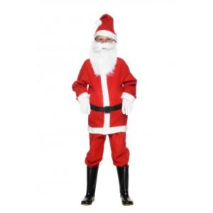 Déguisement Père Noël garçon avec bonnet (3 à 12 ans)
