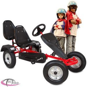 TecTake Kart à pédales 2 places