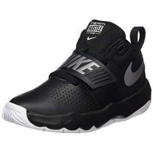 Nike Team Hustle D 8 (PS), Chaussures de Basketball garçon, Noir (Black/Metallic Silver-White 001), 32 EU