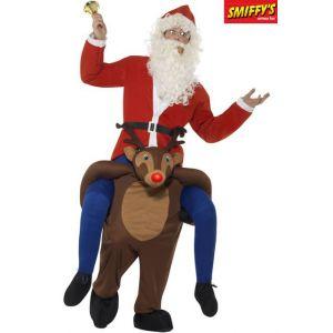 Smiffy's Déguisement Père Noël à dos de renne adulte M