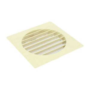 Nicoll Grille extérieure pour tube PVC Ø160 sable moustiquaire GETM160
