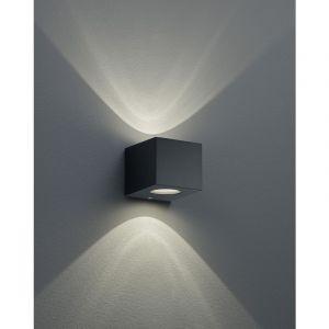 Reality Leuchten Applique d'extérieur LED Cordoba carré, noir