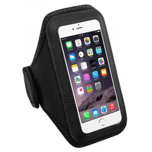 Brassard De Sport Housse Étui Armband Sportband Tour De Bras Pour Iphone 6s/6 Plus Samsung Galaxy S6 Edge Plus/S7 Edge/Note 4/Note 7, Noir