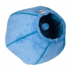 """United Pets TP5201AZ - Corbeille pur chat """"CAT CAVE"""", 35 x 35cm, bleu clair/bleu turquoise"""