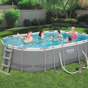 Bestway Ensemble de piscine Power Steel Ovale 56448