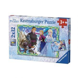 Ravensburger Pack de 2 Puzzles Jeux d'Hiver Reine des Neiges 12 Pièces, 07621