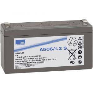 GNB Sonnenschein Batterie au plomb 6 V 1.2 Ah A506/1,2 S plomb-gel (l x h x p) 97 x 56 x 26 mm connecteur plat 4,8 mm sans entretien