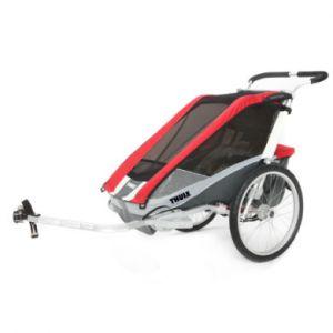 Thule Remorque vélo Chariot Cougar 1 + Kit remorque vélo - Rouge Remorques pour enfant