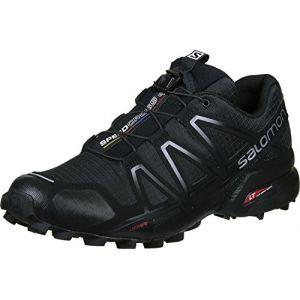Salomon Femme Speedcross 4 Chaussures de Trail Running, Noir (Black/Black/Black Metallic), Taille: 42