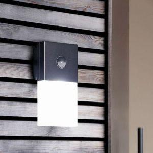 Osram NOXLITE - Applique d'extérieur LED Chaud avec Détecteur Gris L23cm