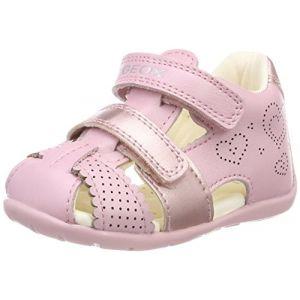Geox B Kaytan C, Sandales Bout Ouvert bébé Fille, Rose (Lt Pink), 23 EU