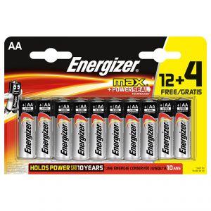 Energizer Piles Max AA (LR06) 12+4 Gratuites