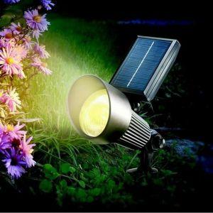 Esotec Spot solaire LED noir Spotlight avec lumière RVB