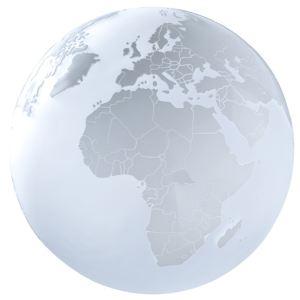 Sompex Lampe globe terrestre en verre