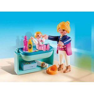 Playmobil 5368 Special Plus - Maman avec bébé et table à langer
