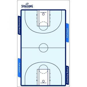 Spalding Spalding - NBA Panneau Tactique - Panneau Entrainement Basket - Tracés terrain complet & Demi Terrain - Marqueur effacable inclus - blanc