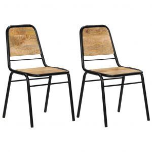 VidaXL Chaises de salle à manger 2 pcs Bois de manguier 44x59x89 cm