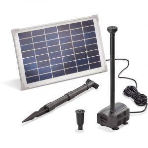Esotec Pompe solaire pour bassin 12W 650 l/h Pompe solaire pour bassin de jardin Fontaine 101912