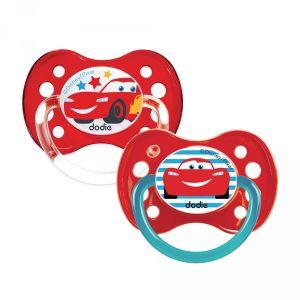 Dodie Sucette anatomique Duo A68 Disney Cars 6 mois +