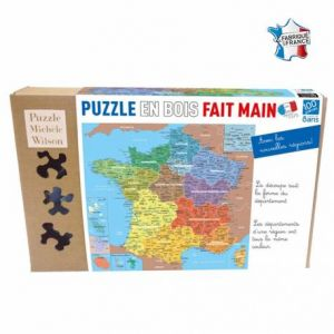 Puzzle Michèle Wilson Puzzle Carte de France des départements en bois (100 pièces)