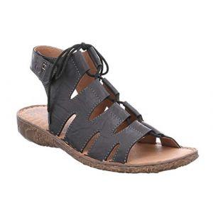 Josef Seibel 79539 Rosalie 39 Femme Sandale à lanières,Spartiates,Sandales Gladiator,Chaussures d'été,Confortables,Schwarz,45 EU / 10 UK