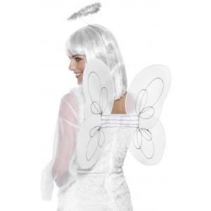 Ailes d'ange blanches avec auréole