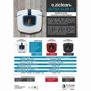 E.ZICOM e.ziclean ULTRA SLIM V2 - Aspirateur robot