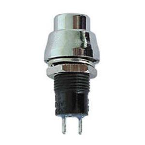Perel Vs Electronic 300083Interrupteur à Pression, rond, r1384b, argent
