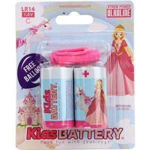 Kidsbattery Lot de 2 piles C LR14 alcaline princesses