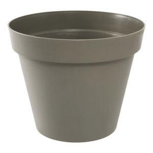 """Eda Plastiques TOSCANE Pot Ø 13,6 contenance 1,1 l taupe - Pot """"TOSCANE"""" Ø 13,6 - Contenance 1,1 l - Coloris : taupe."""