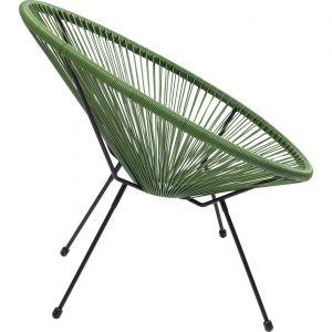 Kare Design Fauteuil Design Vert ACAPULCO