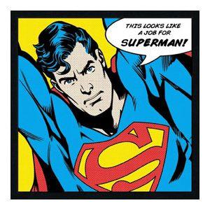 Toile sur châssis Superman (33 x 33 cm)