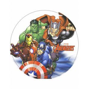Disque azyme Avengers pour gâteaux 20 cm