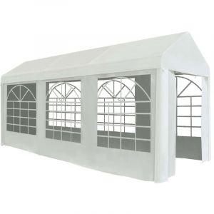 VidaXL Tente de réception PE 2 x 5 m Blanc