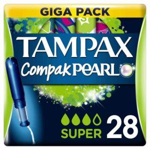 Tampax Tampons Compak Pearl super - La boîte de 28 tampons