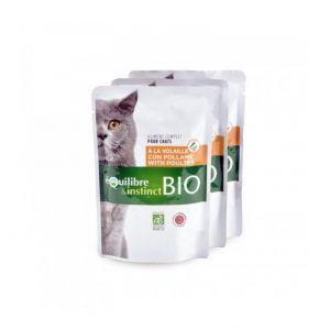 Equilibre et Instinct Pâtée Bio pour chat Adulte 22 x 100 g