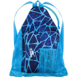 Speedo Deluxe Ventilator Sac de Natation Mixte Adulte, Cage Blue, Taille Unique
